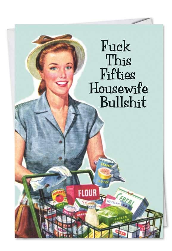 50s Housewife Blank Card