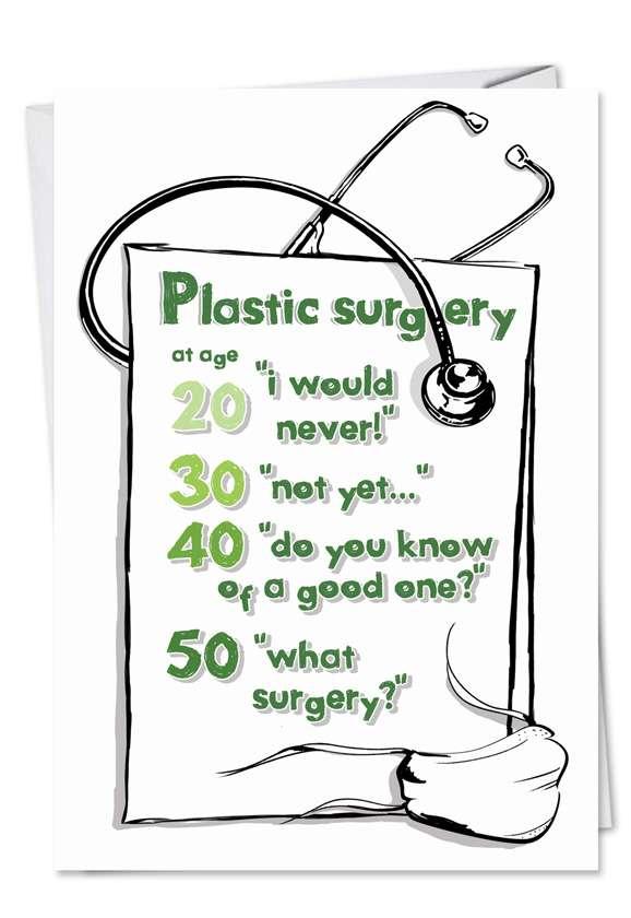Plastic Surgery: Humorous Birthday Printed Card
