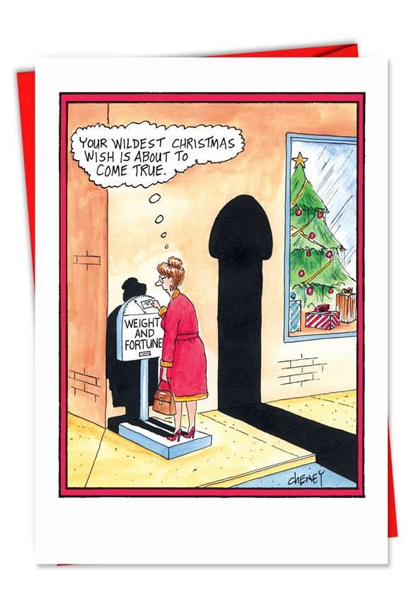 Wildest Christmas Wishes: Hysterical Christmas Paper Greeting Card