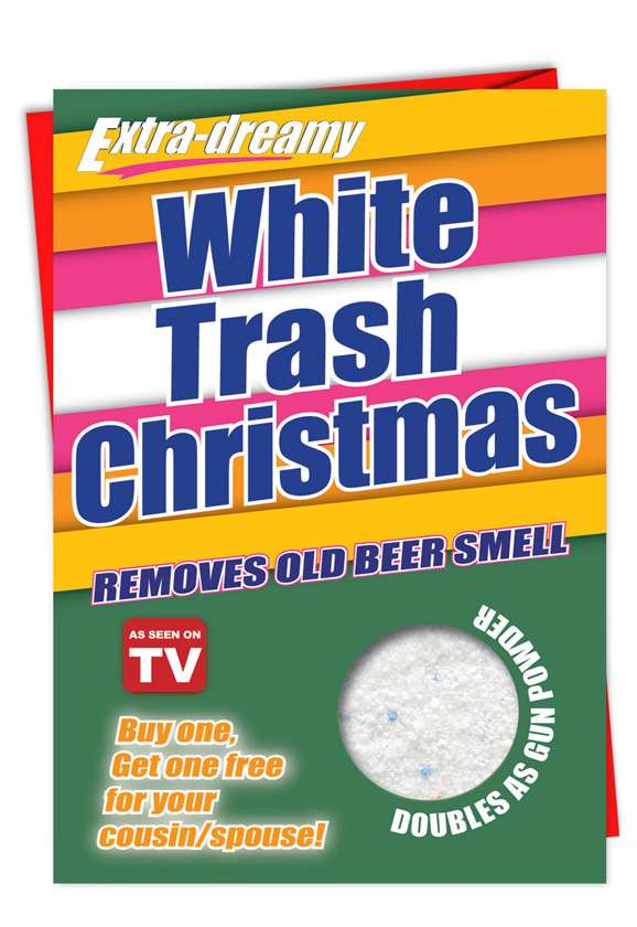 White Trash Christmas: Funny Christmas Printed Greeting Card