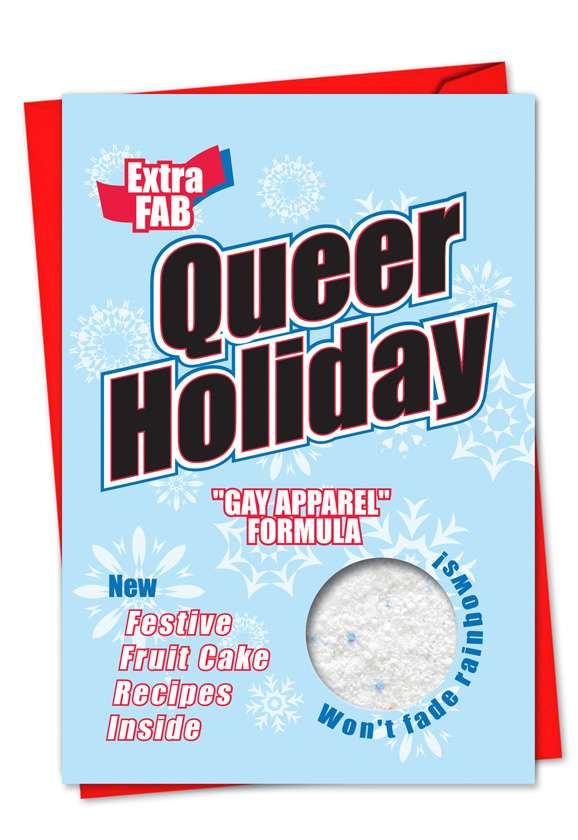 Queer Holiday: Humorous Christmas Paper Card
