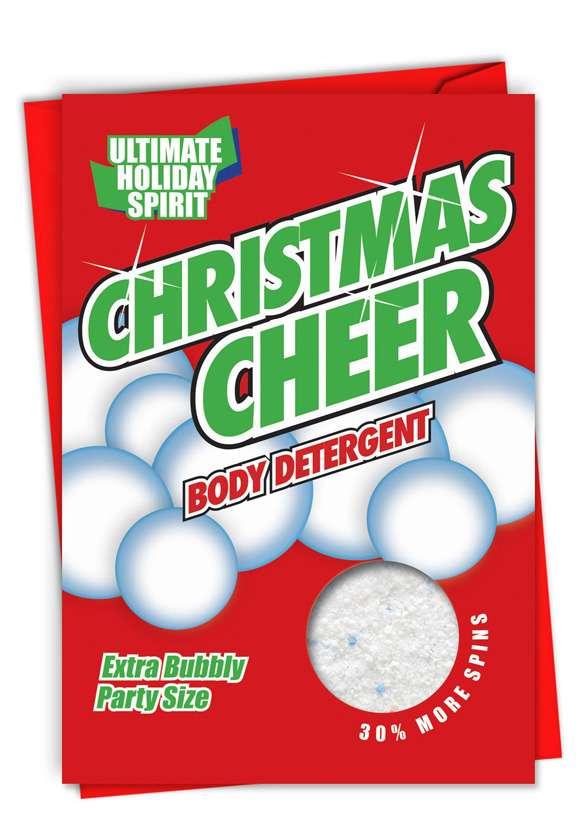 Christmas Cheer: Humorous Christmas Paper Greeting Card