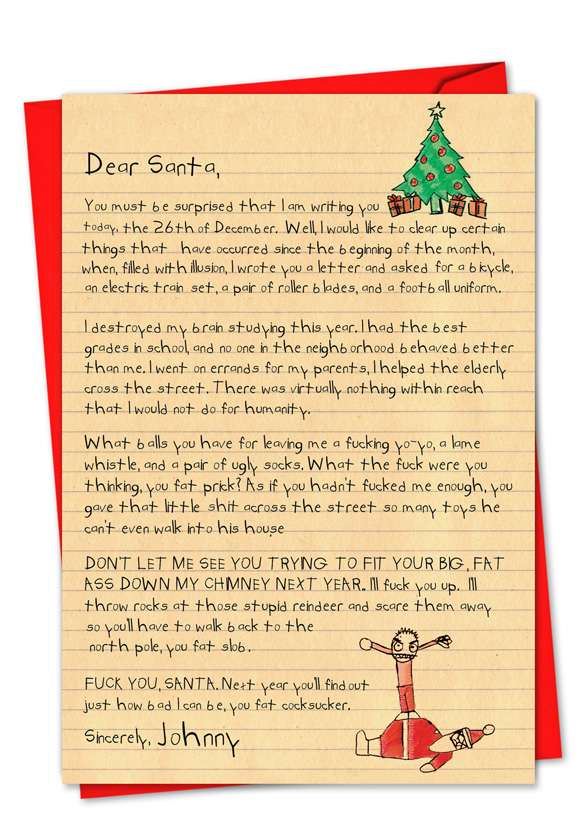 Dear Santa: Hysterical Blank Paper Card