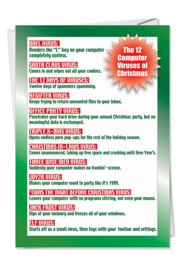 Christmas virus: Hilarious Christmas Greeting Card