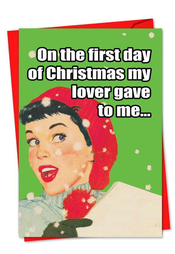Effin Single: Hilarious Christmas Printed Greeting Card