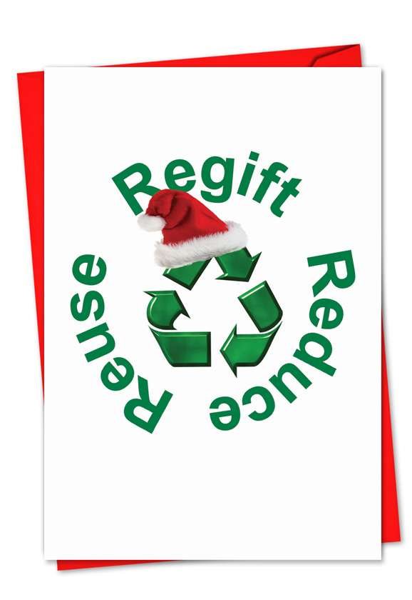 Regift: Hysterical Christmas Paper Greeting Card
