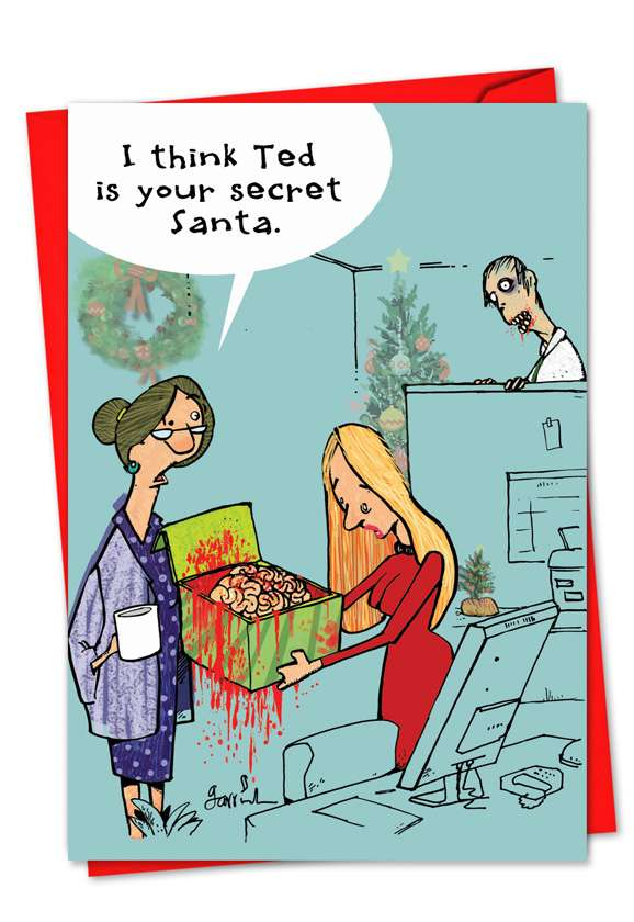 Zombie Secret Santa: Hilarious Christmas Greeting Card