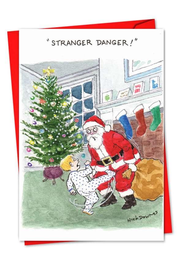 Stranger Danger: Hysterical Christmas Printed Card