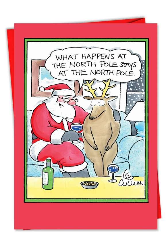 Secret Santa: Hysterical Christmas Printed Greeting Card