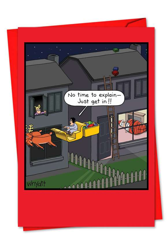 Just Get In: Hilarious Christmas Greeting Card