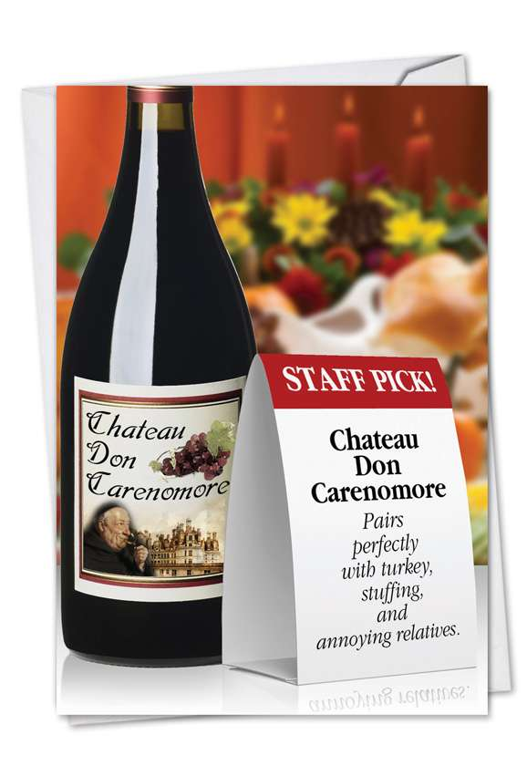 Wine Pairing: Hysterical Thanksgiving Greeting Card
