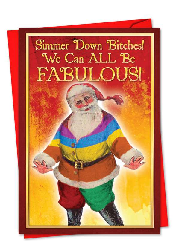 Simmer Down Bitches: Hysterical Christmas Greeting Card