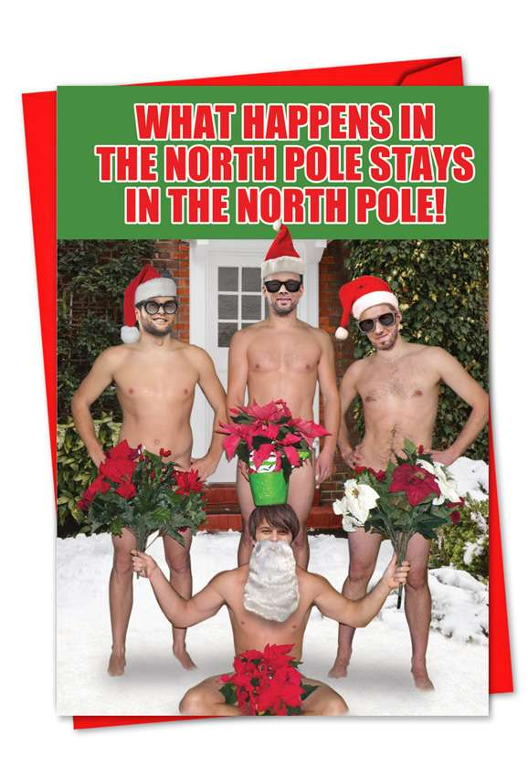 What Happens In The North Pole: Hilarious Christmas Printed Card