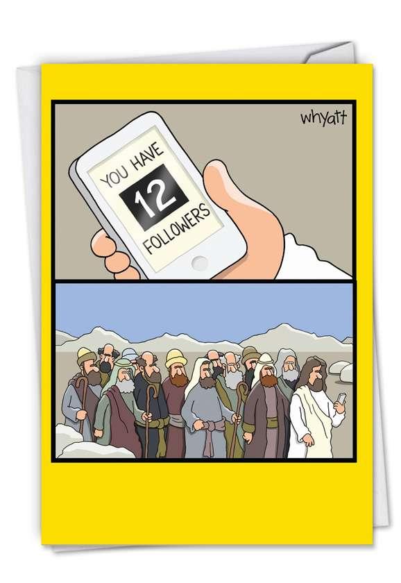 12 Followers: Humorous Birthday Printed Card