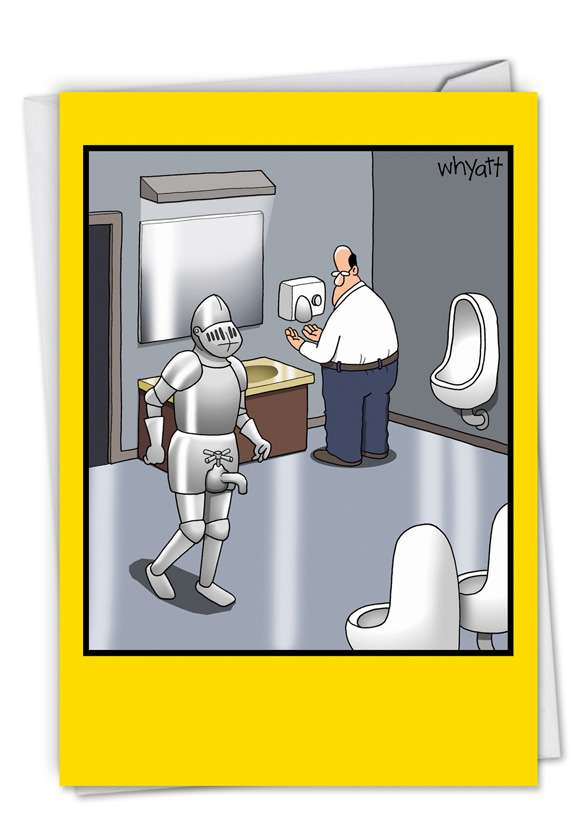 Bathroom Knight: Funny Birthday Greeting Card