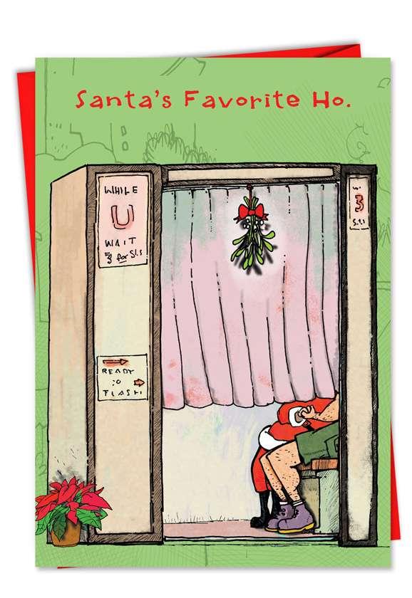 Santas Favorite Queen: Humorous Christmas Printed Card
