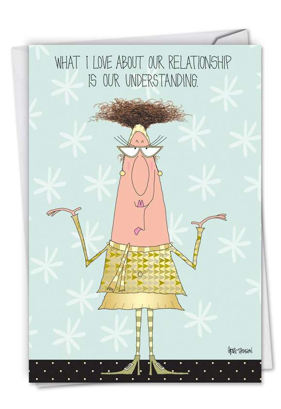 Understanding Relationship: Funny Anniversary Greeting Card