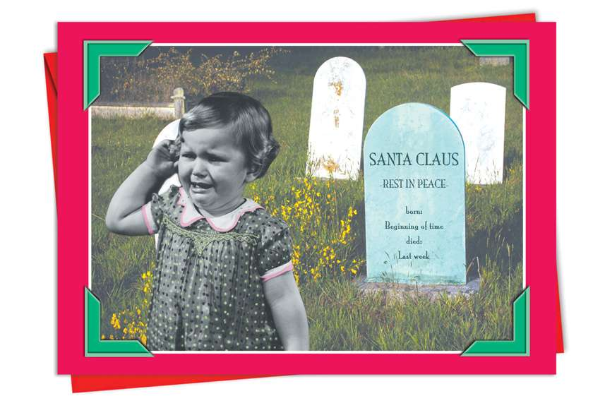 Santa Grave: Hysterical Christmas Paper Greeting Card