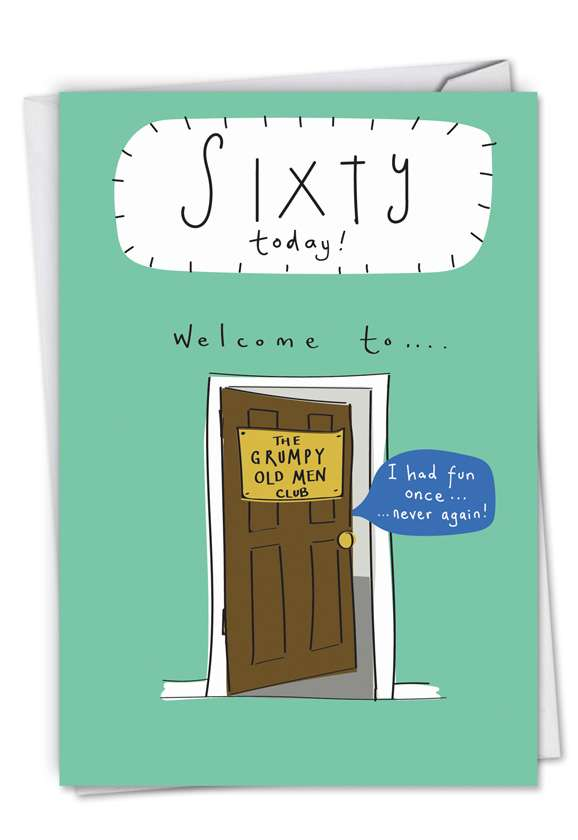Welcome To 60: Hysterical Birthday Printed Card