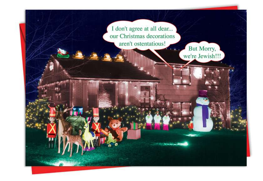 But Morry: Humorous Christmas Paper Card