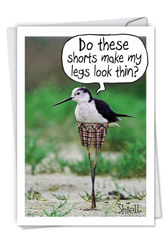 Skinny Bird Legs: Hysterical Birthday Paper Greeting Card