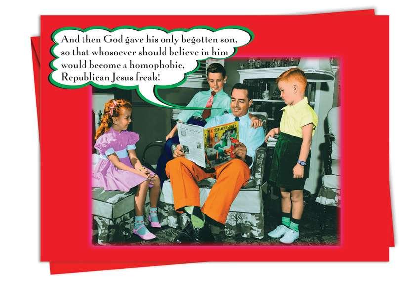Jesus Freak: Humorous Christmas Paper Greeting Card