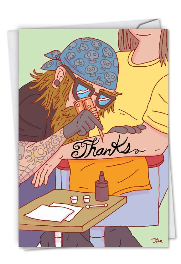 Thanks Forever: Hilarious Thank You Printed Greeting Card