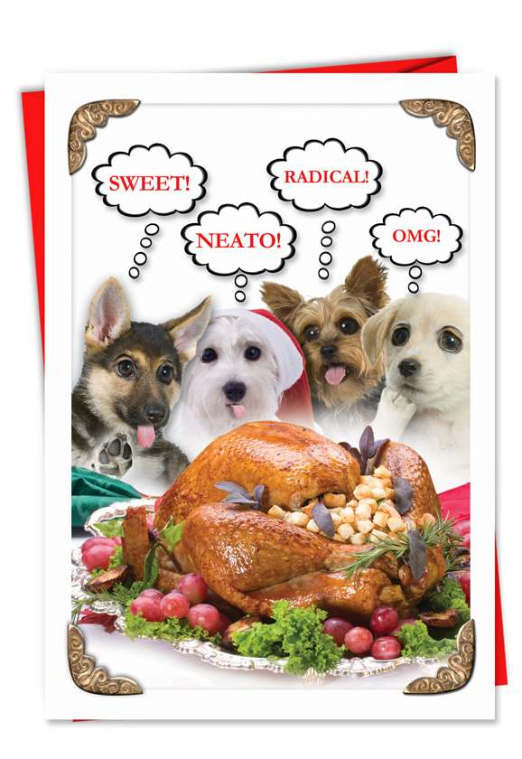 Sweet Puppies: Hilarious Christmas Greeting Card