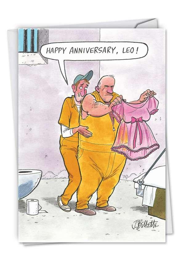 Prison Love: Humorous Anniversary Greeting Card