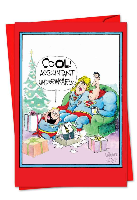 Accountant Underwear: Funny Blank Greeting Card