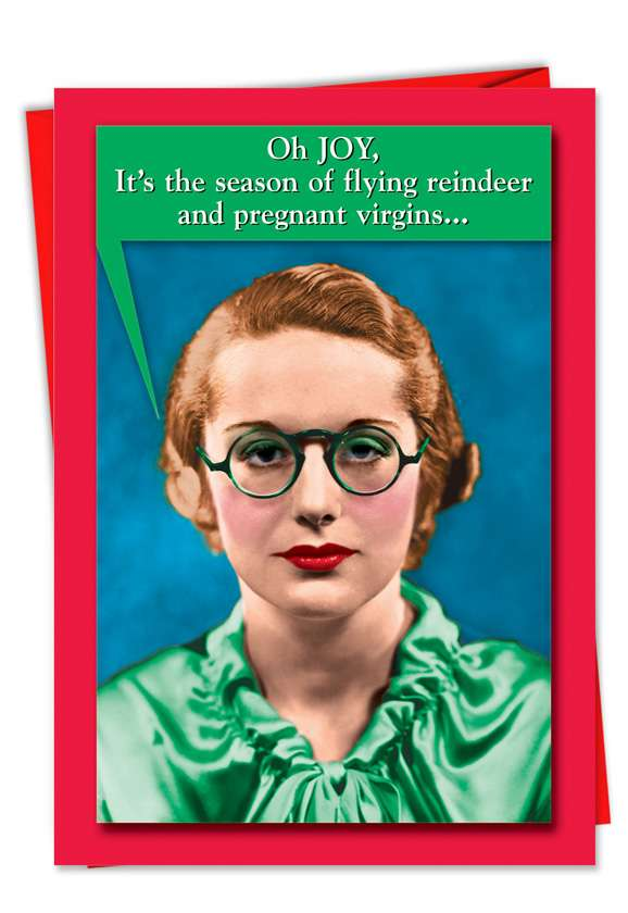 Pregnant Virgins: Hysterical Christmas Greeting Card