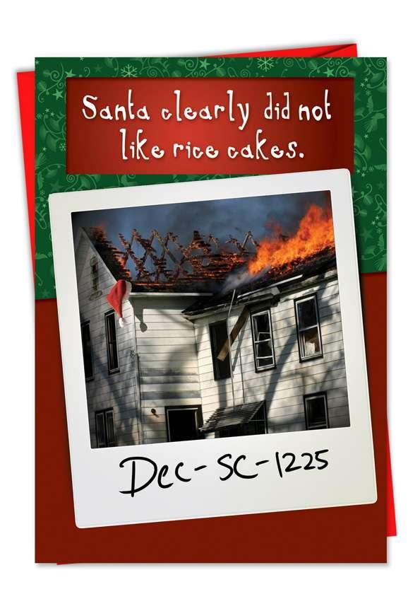 Santa Hates Rice Cakes: Hilarious Christmas Greeting Card
