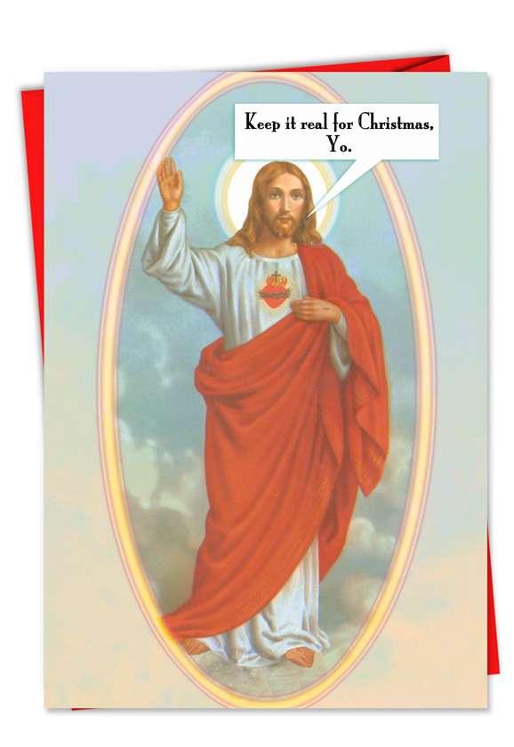 Keep It Real Jesus Card