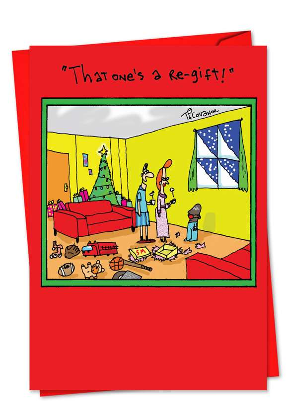 Bondage Regift: Hysterical Christmas Printed Greeting Card
