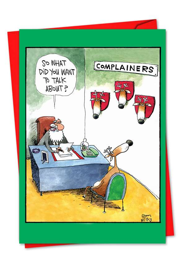 Complainers: Hilarious Blank Paper Greeting Card