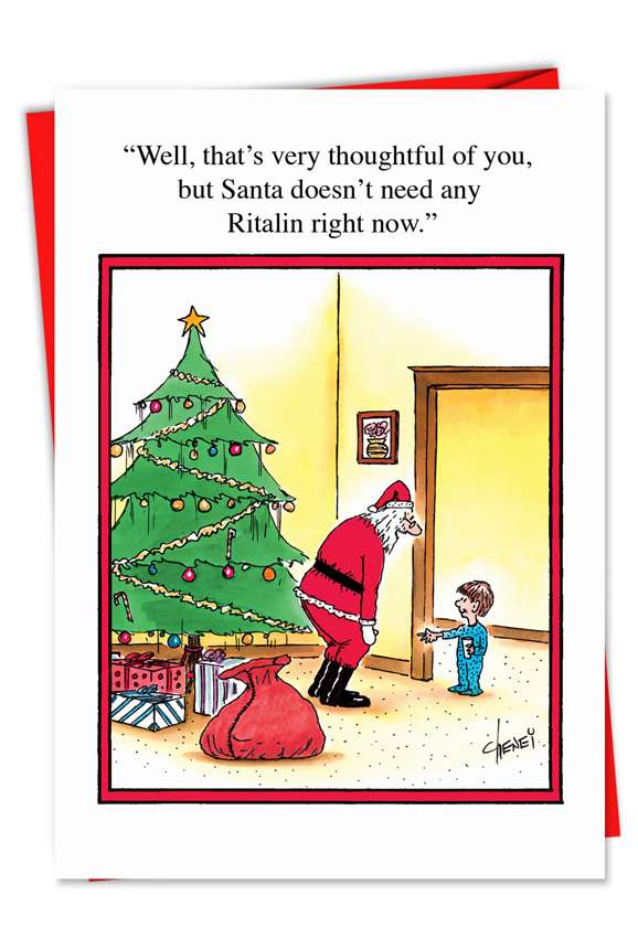 Ritalin: Funny Christmas Paper Card