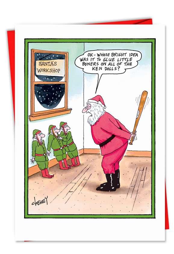 Ken Dolls: Humorous Christmas Printed Card