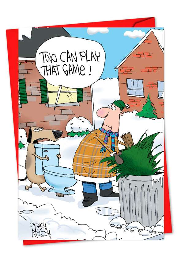 Two Can Play This Game: Funny New Year Printed Card
