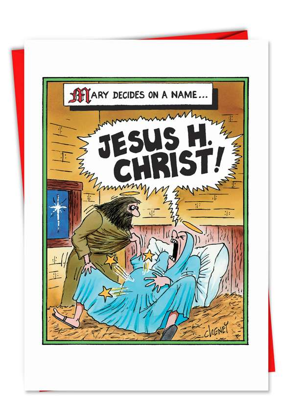 Jesus H Christ: Hilarious Christmas Greeting Card