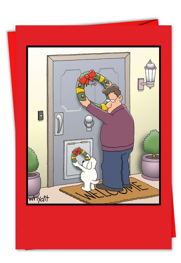 Dog Wreath Card