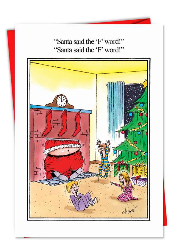 The F Word: Hilarious Christmas Paper Card