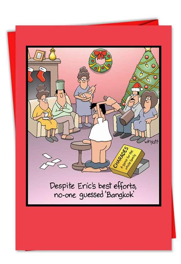 Bangkok: Humorous Christmas Paper Greeting Card