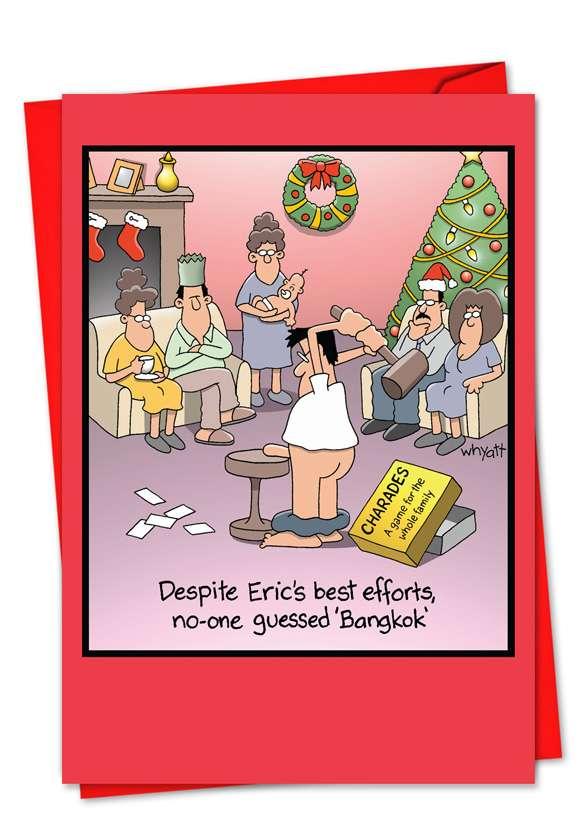 Bangkok: Hilarious Blank Printed Card