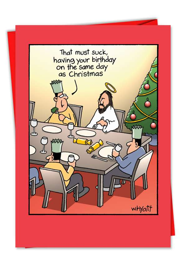 Birthday Suck: Funny Christmas Paper Card