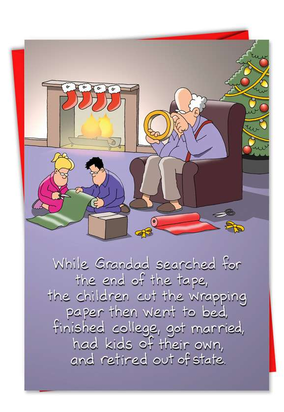 Sticky Tape: Humorous Christmas Greeting Card