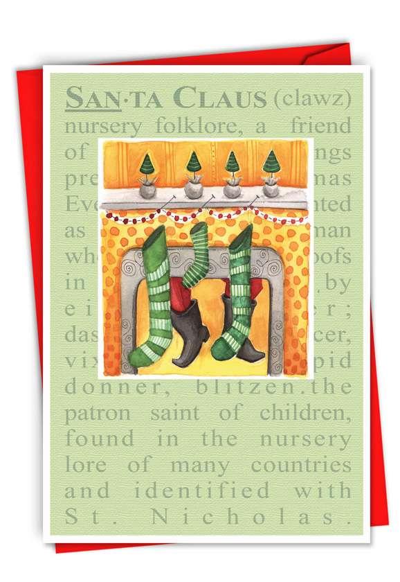 Santa Defined: Creative Christmas Paper Card