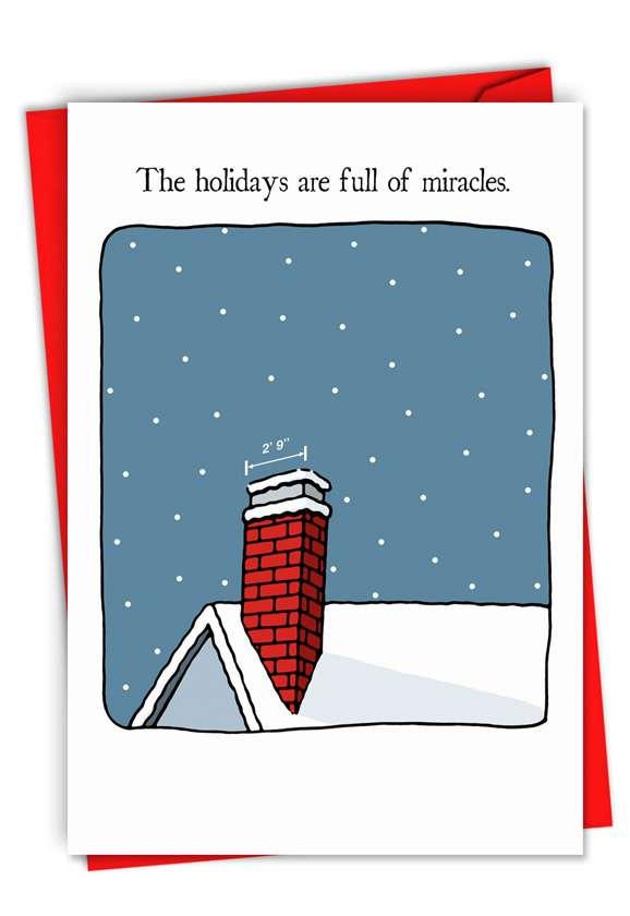 Santa Miracle: Stylish Christmas Greeting Card