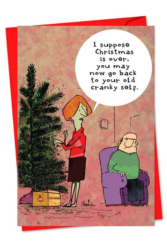 Cranky Old Self: Hysterical Christmas Printed Greeting Card