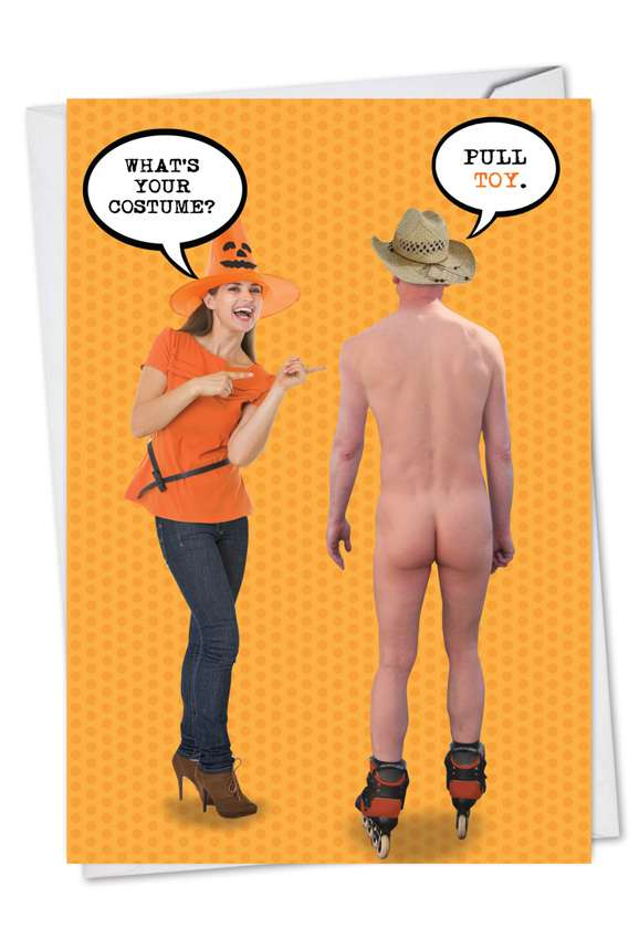 Pull Toy: Funny Halloween Paper Greeting Card