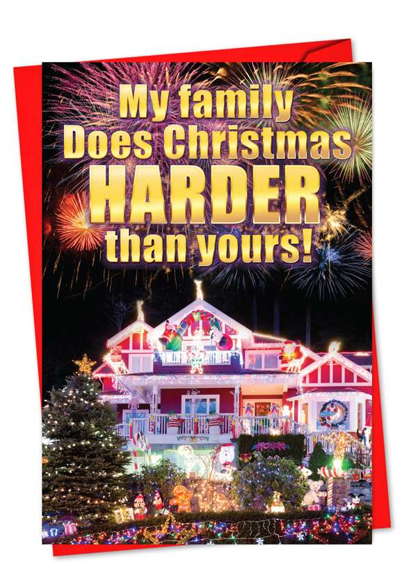 Christmas Harder Than You: Humorous Christmas Paper Card